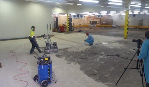 Industrial Flooring work in progress