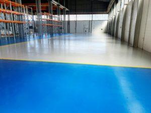 Floor with line marking